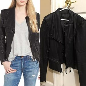 Black moto biker jacket Blank NYC